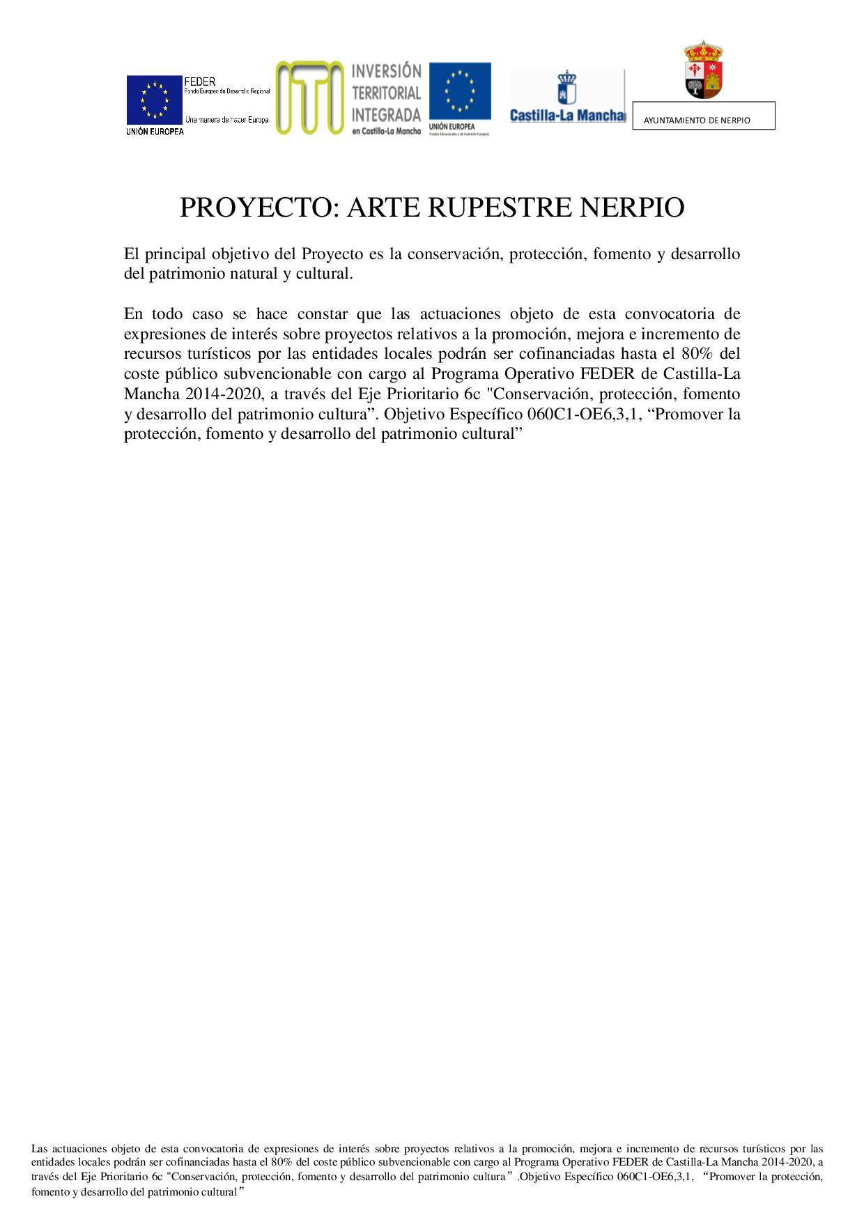 PROYECTO ARTE RUPESTRE NERPIO