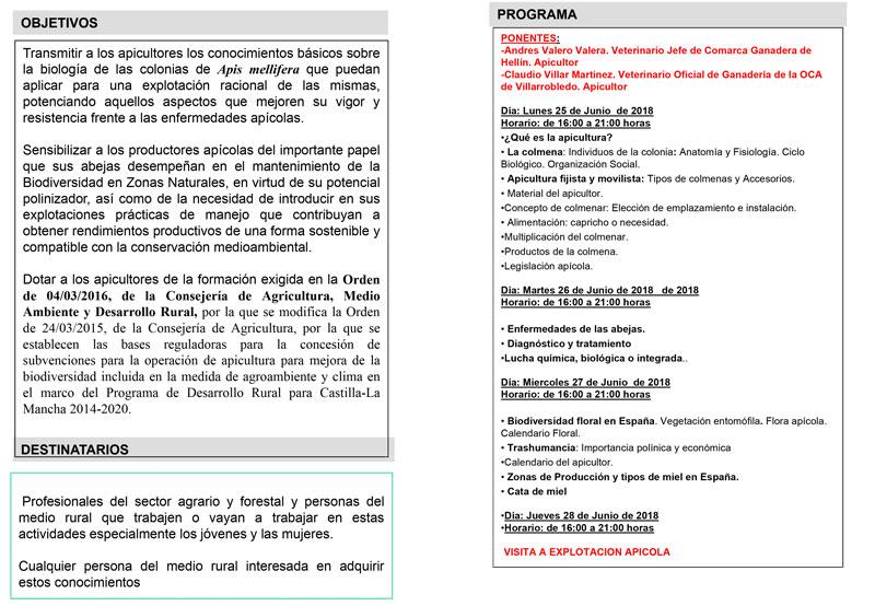 Ayuntamiento de Nerpio - Curso de iniciación a la apicultura